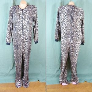 Nick & Nora XL Footed Leopard Cheetah Print 1 Pc